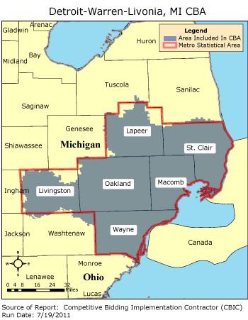 CBIC - Round 2 - Competitive Bidding Area - Detroit-Warren-Livonia ...