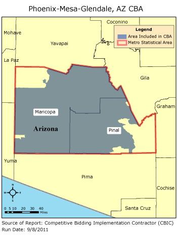 La Mesa Zip Code Map.Cbic Round 2 Competitive Bidding Area Phoenix Mesa Glendale