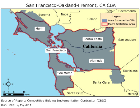 CBIC Round 2 Competitive Bidding Area San FranciscoOakland