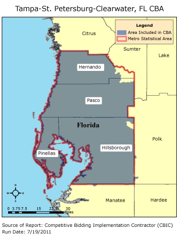 Saint Petersburg Fl Zip Code Map.Cbic Round 2 Competitive Bidding Area Tampa St Petersburg