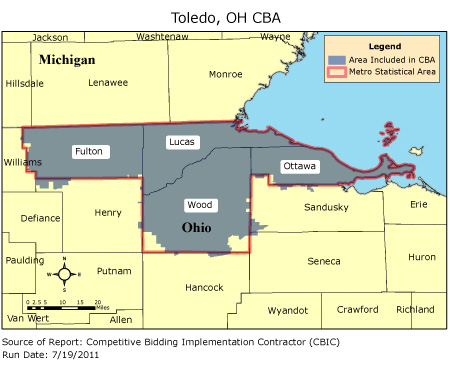 CBIC   Round 2   Competitive Bidding Area   Toledo, OH, CBIC