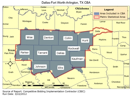 CBIC Round 1 Recompete Competitive Bidding Area DallasFort