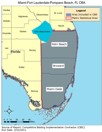 Ft Lauderdale On Map Of Florida.Cbic Round 1 Recompete Competitive Bidding Area Miami Fort