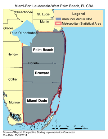 West Monroe Zip Code Map.Cbic Round 1 2017 Competitive Bidding Area Miami Fort