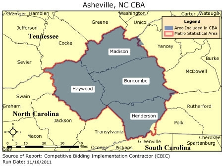 CBIC Round 2 Competitive Bidding Area Asheville NC CBIC