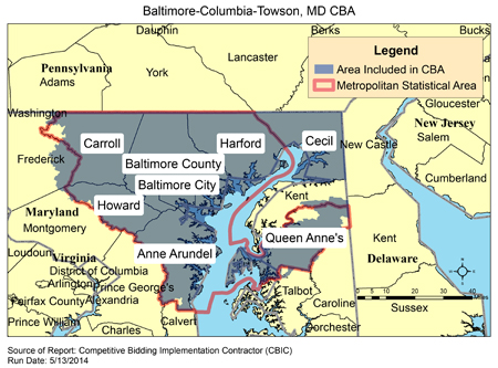 Cbic Round 2 Recompete Competitive Bidding Area Baltimore
