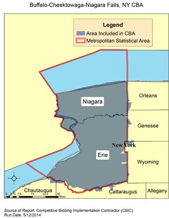 Niagara Falls Zip Code Map.Cbic Round 2 Recompete Competitive Bidding Area Buffalo