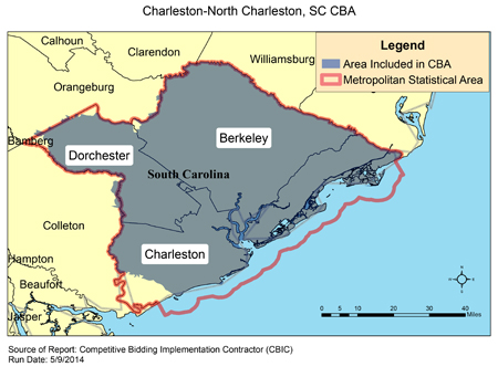 North Charleston Zip Code Map.Cbic Round 2 Recompete Competitive Bidding Area Charleston