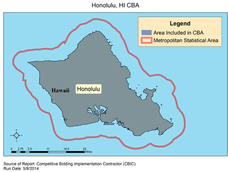 Honolulu Hawaii Zip Code Map.Cbic Round 2 Recompete Competitive Bidding Area Honolulu Hi