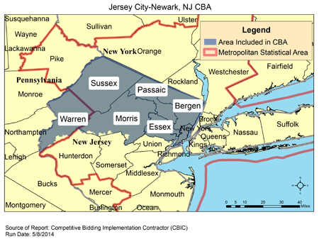 Jersey City Nj Zip Code Map.Cbic Round 2 Recompete Competitive Bidding Area Jersey City