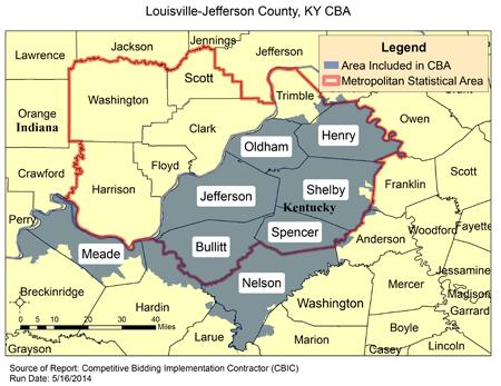 CBIC - Round 2 Recompete - Compeive Bidding Area - Louisville ... Zip Code Map Louisville Ky on