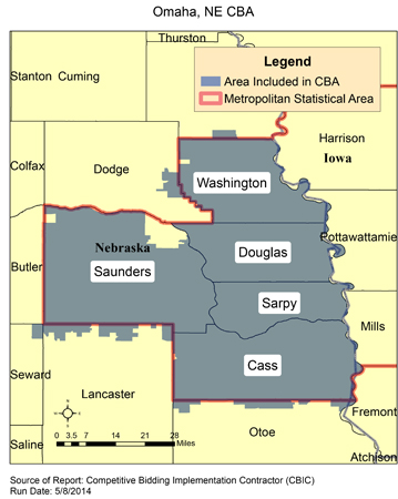 CBIC - Round 2 Recompete - Compeive Bidding Area - Omaha, NE ... Zip Code Map For Omaha Ne on