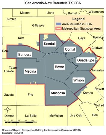 CBIC Round 2 Recompete Competitive Bidding Area San Antonio