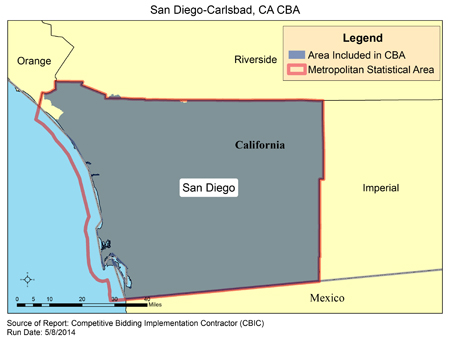 Carlsbad California Zip Code Map.Cbic Round 2 Recompete Competitive Bidding Area San Diego