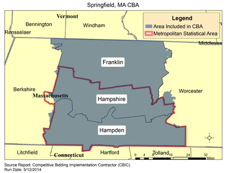 Springfield Va Zip Code Map.Cbic Round 2 Recompete Competitive Bidding Area Springfield
