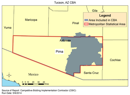 CBIC - Round 2 Recompete - Compeive Bidding Area - Tucson, AZ ... Zip Code Map Tucson on